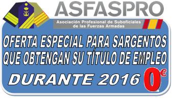 Oferta Especial Sargentos 2016