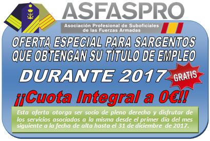 Oferta Especial Sargentos 2017 3