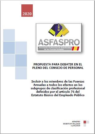091 2020 Propuesta ASFASPRO Inclusion plena grupos art 76 EBEP