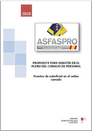 093 2020 Propuesta ASFASPRO orden cerrado suboficiales