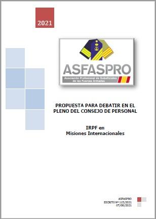 115.2021 Propuesta ASFASPRO EXENCIÓN IRPF POR MISIONES INTERNACIONALES