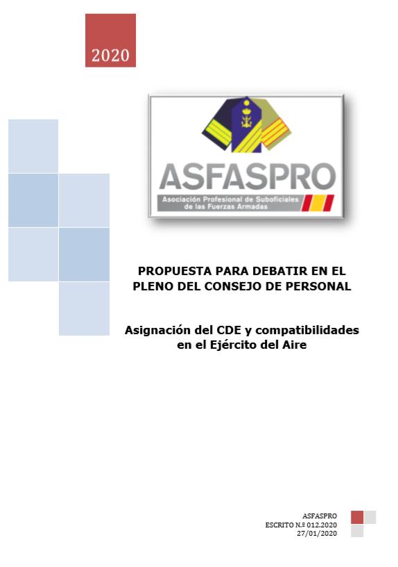 Asignación del CDE y compatibilidades en el Ejército del Aire