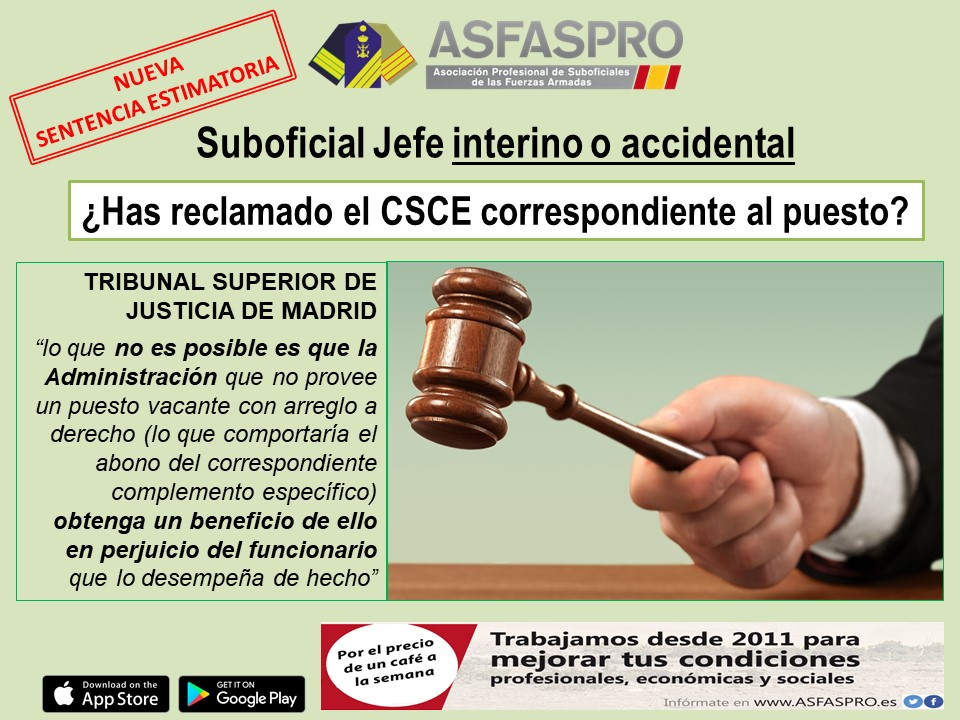 Cartel sentencia CSCE Mando accidental