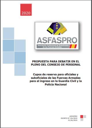 Cupos de reserva para oficiales y suboficiales de las Fuerzas Armadas para el ingreso en la Guardia Civil y la Policía Nacional