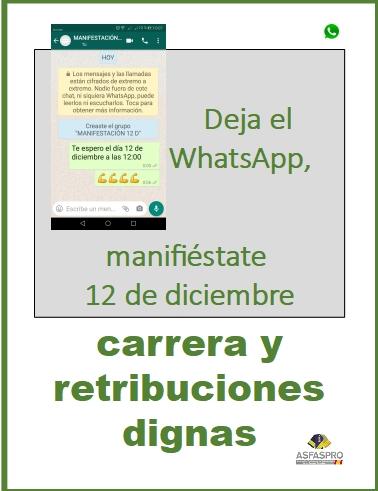 Deja el WhatsApp manifiéstate 12D