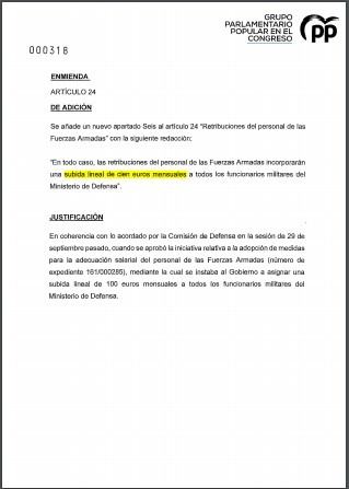 Enmienda PGE 2021 PGE