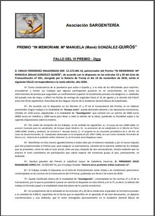 Fallo VI Premio 02102020