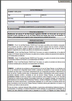Formulario ASFASPRO Clases Pasivas