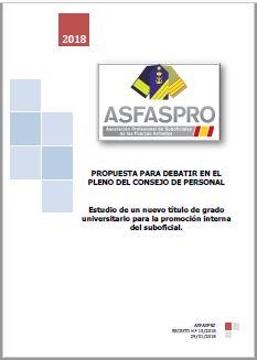 I15.2018 Propuesta ASFASPRO estudio nueva titulación de grado