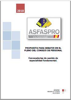 I17.2018 Propuesta ASFASPRO convocatorias cambio de especialidad