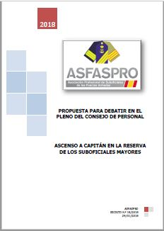 I18.2018 Propuesta ASFASPRO ascenso reserva a capitán suboficiales mayores
