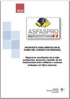 I20.2018 Propuesta ASFASPRO conciliación matrimonio militares hijos menores