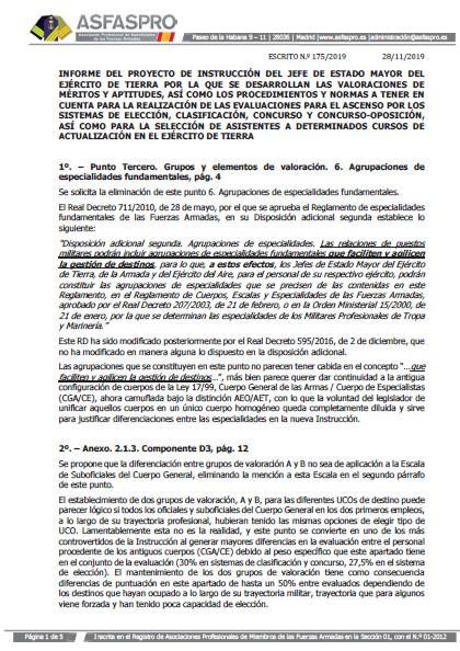 Informe ASFASPRO Instruccion JEME evaluación 231219