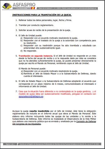 Instrucciones tramitación queja prohibición desplazamientos ET
