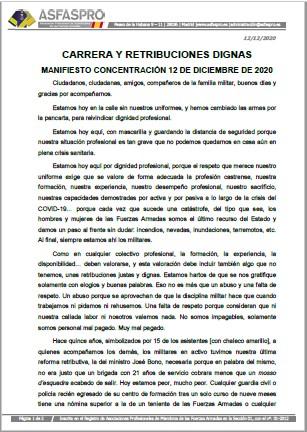 Manifiesto concentraciones 12 diciembre 2020 ASFASPRO
