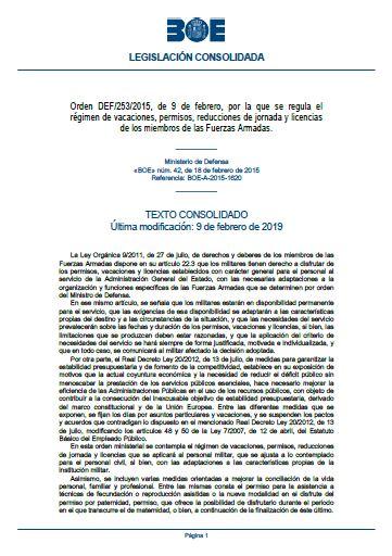 Orden DEF 253 2015 consolidado