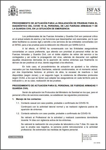 PROCEDIMIENTO DE ACTUACIÓN PARA LA REALIZACIÓN DE PRUEBAS
