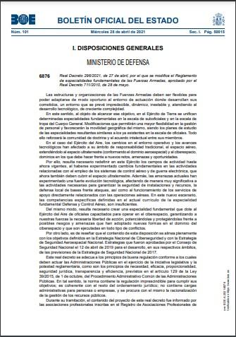 Real Decreto 2962021