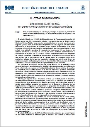 Real Decreto 3242021 de 4 de mayo