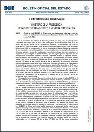 Real Decreto 543 2020 de 26 de mayo