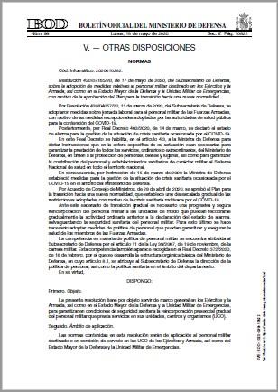 Resolución 4300716520 17 mayo 2020