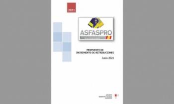 ASFASPRO remite a la Comisión de Trabajo sobre retribuciones una nueva propuesta de incremento salarial