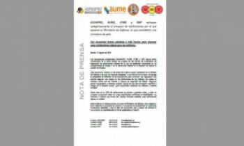 ASFASPRO, AUME, ATME y UMT rechazan categóricamente el proyecto de retribuciones por el que apuesta el Ministerio de Defensa, al que consideran una tomadura de pelo