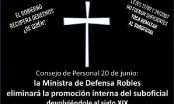 Consejo de Personal 20 de junio: la Ministra de Defensa Robles eliminará la promoción interna del suboficial